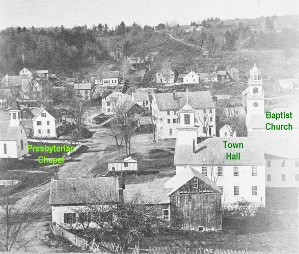 Lower Village before the Fire of 1887