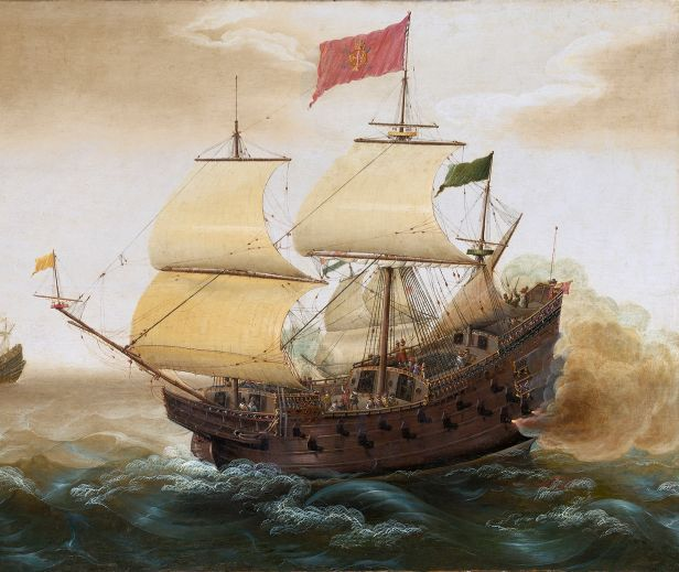 a Spanish galleon by Verbeeck 1620